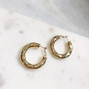 🆕Adella Metallic Gold Hoop Earrings